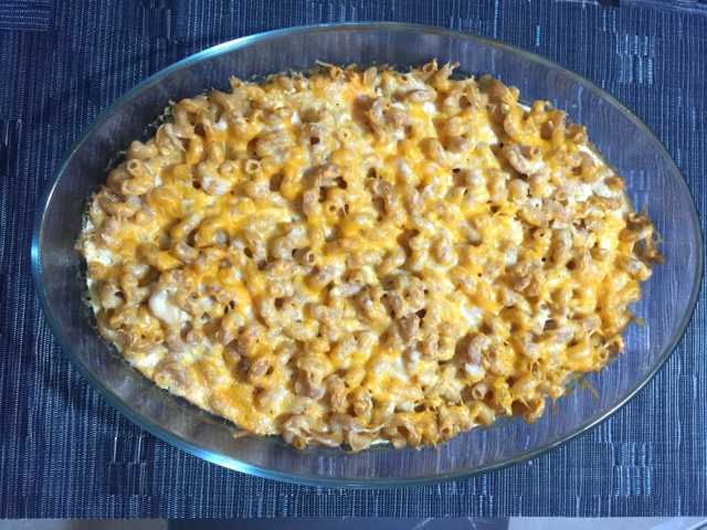 The macaroni and cheese.